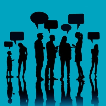 Communicatie communautaire mensenbespreking het spreken concept