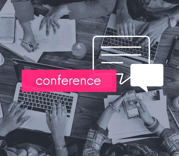 Communicatie conferentie delen gespreksvergadering