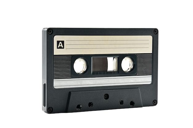 Compacte audiocassette voor gebruik op audiobandrecorders, muziekspelers en cassettedecks. retro.