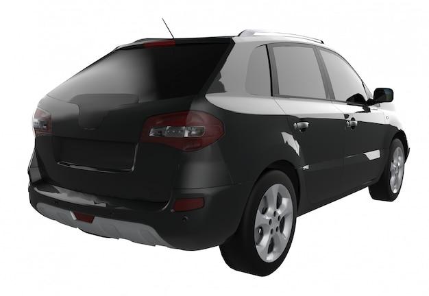 Compacte stad crossover zwarte auto