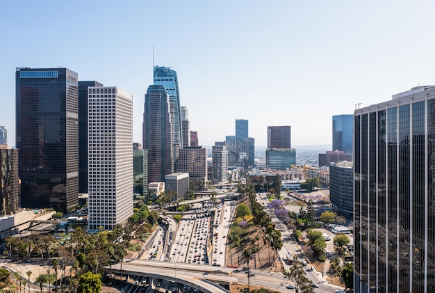 Complexe luchtfoto van de stad