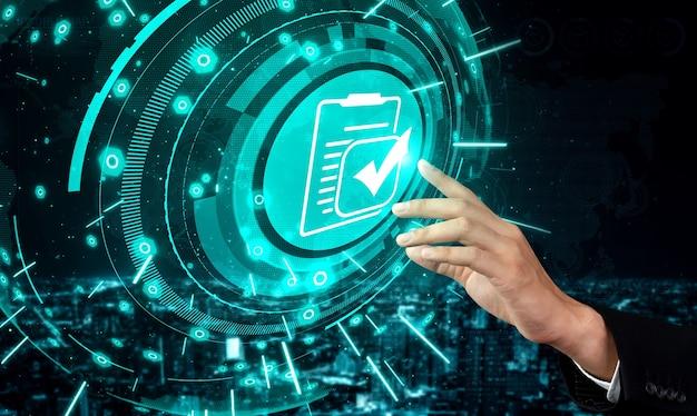 Compliance regel wet- en regelgeving grafische interface voor zakelijk kwaliteitsbeleid
