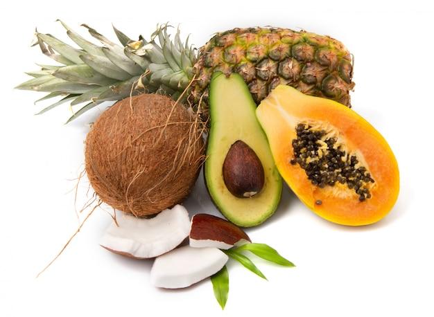 Compositie met exotisch fruit