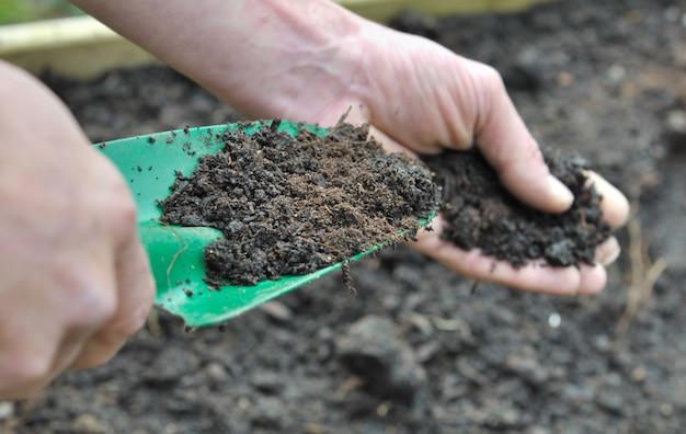 Compost voor tuin