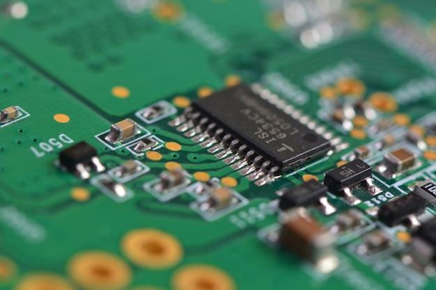 Computer bord close-up
