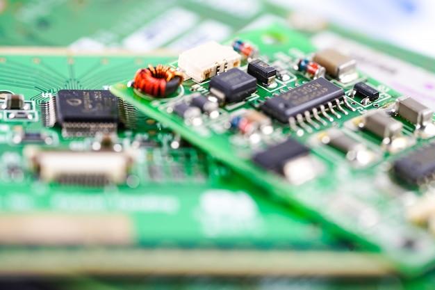 Computer circuit cpu moederbord elektronica-apparaat: concept van hardware en technologie.