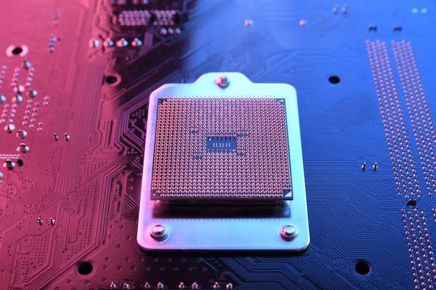 Computer cpu processor chip op printplaat