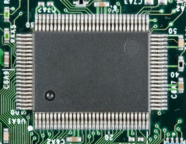 Computer elektronische chip. gebruik voor achtergrond of textuur