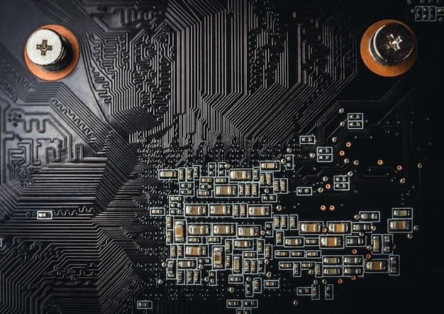Computer, elektronische printplaat achtergrond