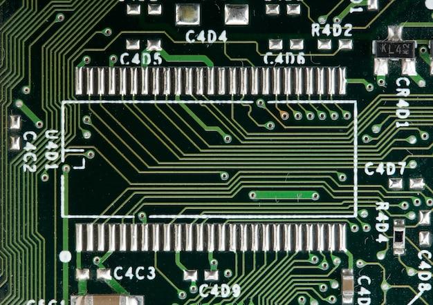 Computer elektronische schakeling. gebruik voor achtergrond of textuur