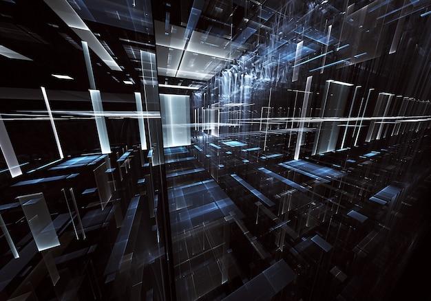 Computer gegenereerde abstract tehnology afbeelding. driedimensionale 3d fractal, textuur