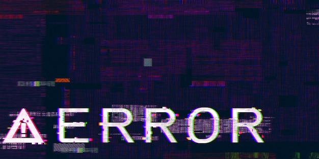 Computer gevaar symbolen glitch effect gehackte bug cyberpunk digitale pixel ontwerpconcept