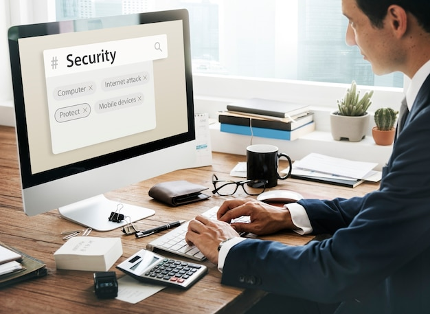 Computer internet aanval mobiele apparaten