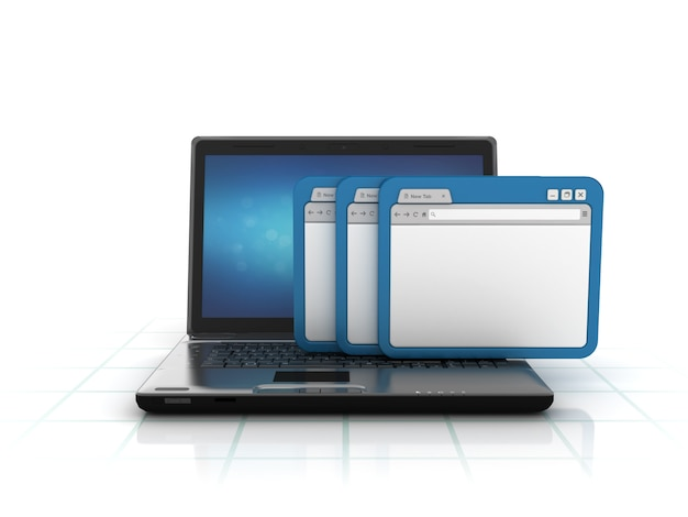 Computer laptop met internetbrowser
