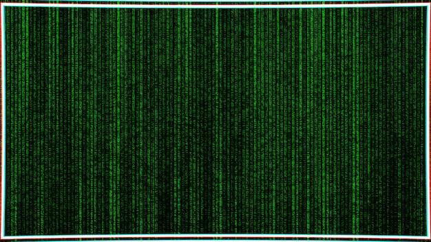 Computer matrix briefkaart achtergrond