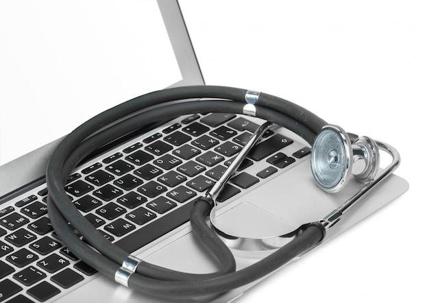 Computer met stethoskop