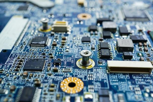 Computer printplaat cpu-chip moederbord kern processor elektronica apparaat technologie
