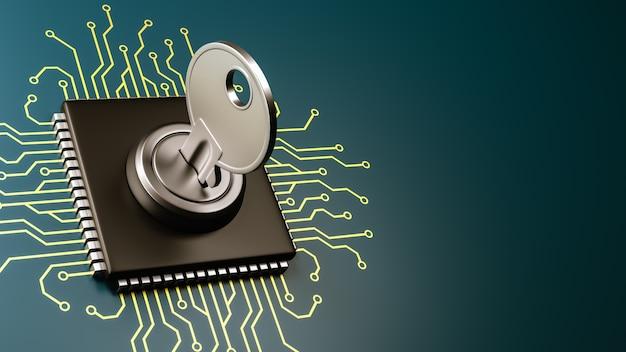 Computer processor veiligheidsconcept