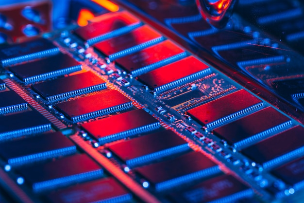 Computer random access memory (ram) van dichtbij