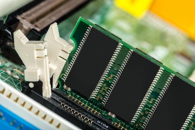 Computerchip, technologie- en elektronica-industrie