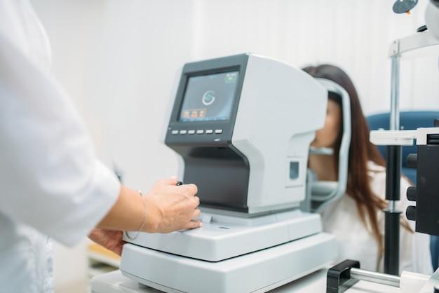 Computerdiagnostiek van het gezichtsvermogen, oogtest