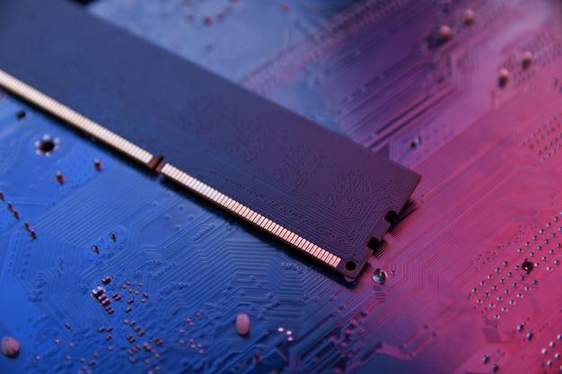 Computergeheugen ram op moederbord