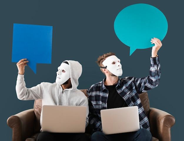 Computerhackers en cybercrime-concept