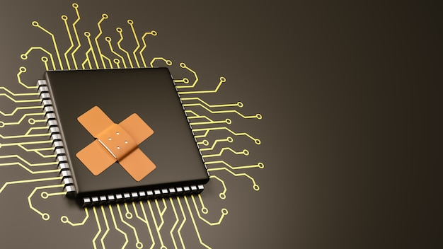 Computerprocessor bug patch concept