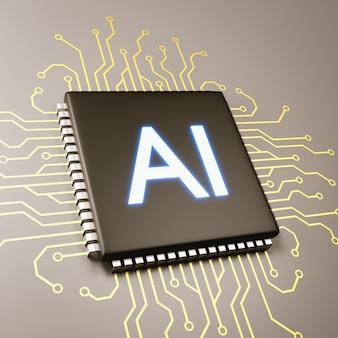 Computerprocessor kunstmatige intelligentie concept