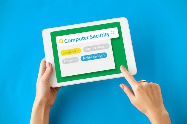 Computersysteem beveiliging verbindingswachtwoord