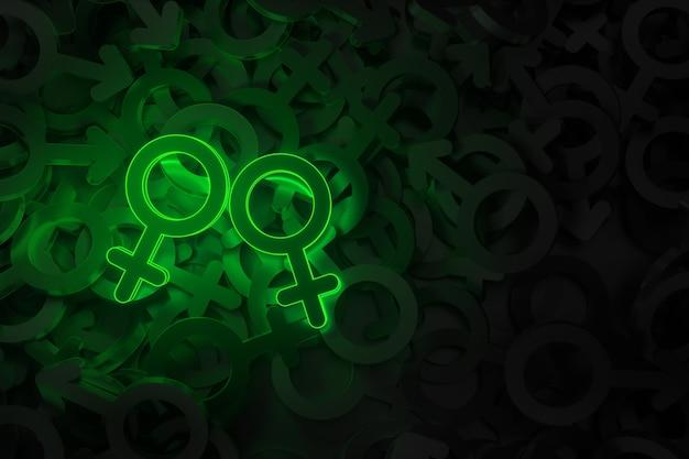 Concept art op het thema van liefde voor hetzelfde geslacht