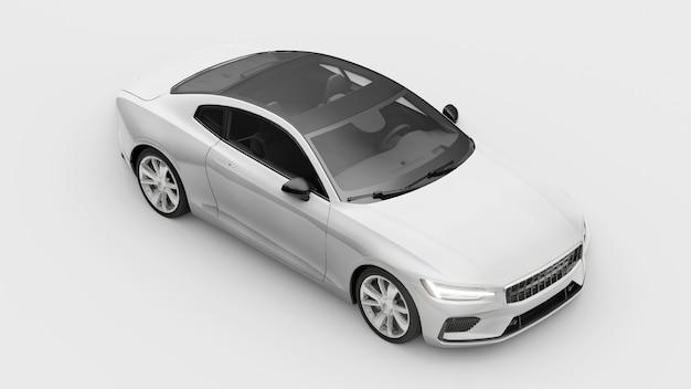 Concept auto sport premium coupe plugin hybride technologieën van milieuvriendelijk vervoer witte auto