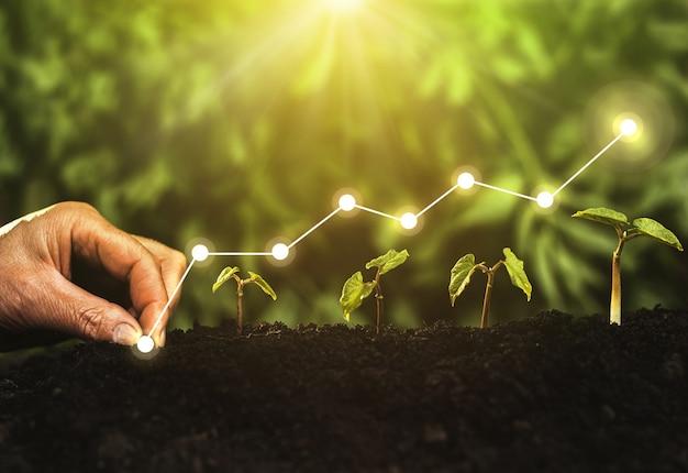 Concept bedrijfsgroei winstontwikkeling en succes
