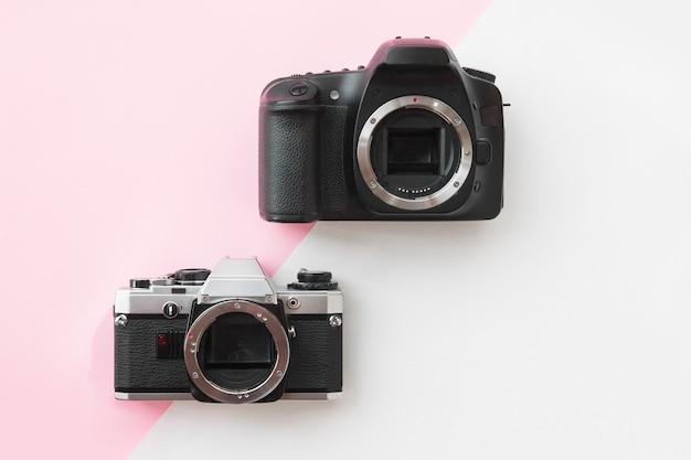 Concept - digitale versus analoge slr-camera