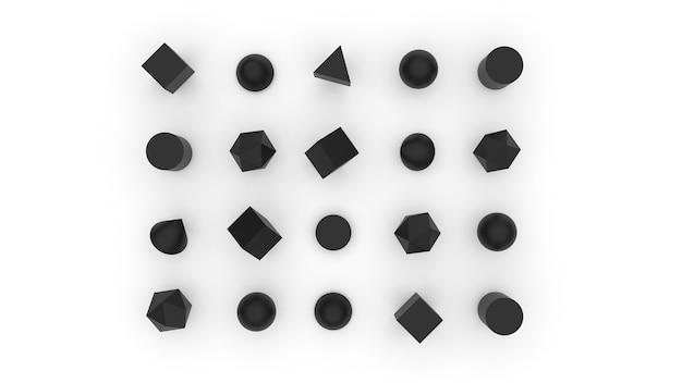 Concept eenvoudige zwart-wit geometrie illustratie