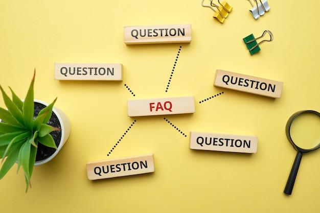 Concept faq veelgestelde vragen over veel voorkomende problemen.