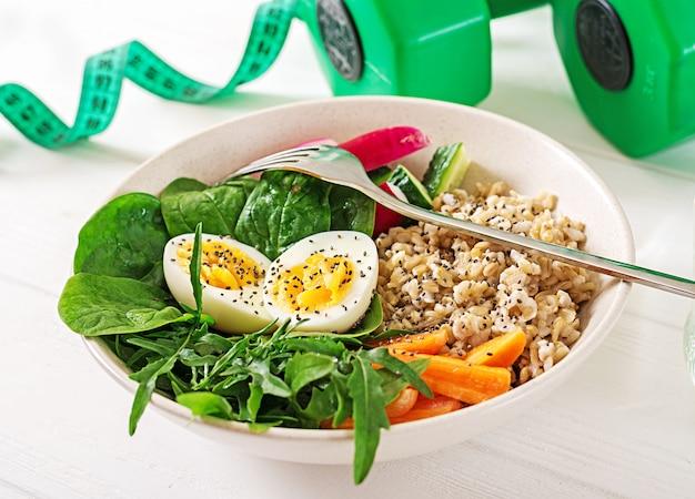 Concept gezond voedsel en sport levensstijl.