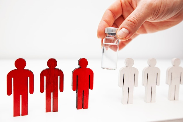 Concept om mensen gezond te maken na vaccinatie