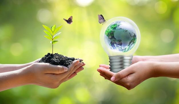 Concept red de wereld veilige omgeving