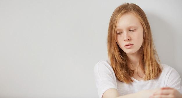 Concept tiener depressie en isolatie