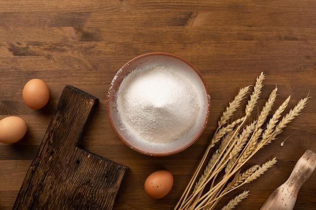 Concept van bakkerij en brood bakken