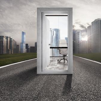 Concept van carrièrevooruitgang en succes