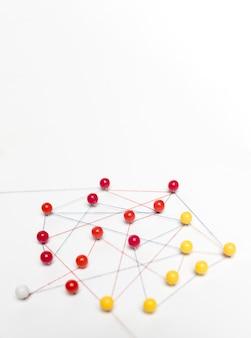 Concept van communicatie met pinnen