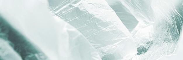 Concept van de close-up het abstracte plastic zak