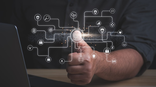 Concept van digitale beveiliging s