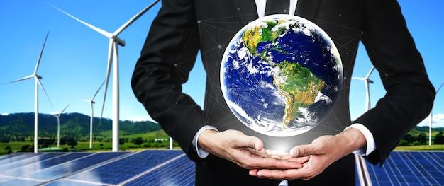Concept van duurzaamheidsontwikkeling door alternatieve energie