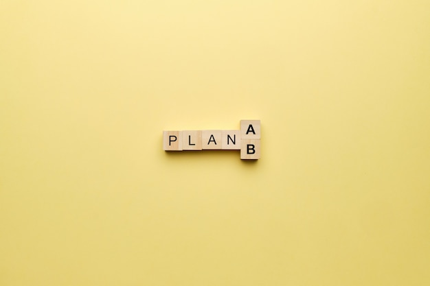 Concept van een noodplan in geval van mislukking