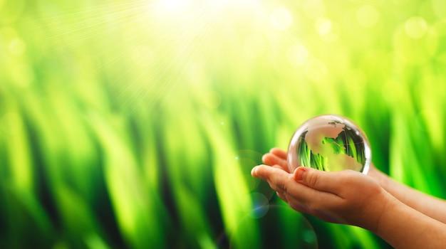 Concept van het milieu wereld aarde dag