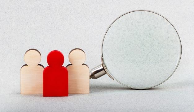 Concept van het zoeken naar werk en sollicitatiegesprek