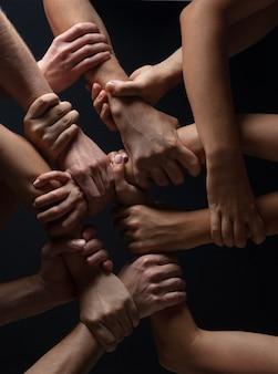 Concept van menselijke relatie, gemeenschap, saamhorigheid, symboliek